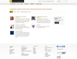 otl.curtin.edu.au screenshot