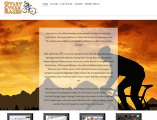 otleycycleraces.co.uk screenshot