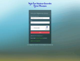 otomasyon.nigde.edu.tr screenshot