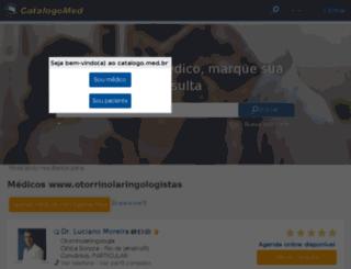 otorrinolaringologistas.catalogo.med.br screenshot