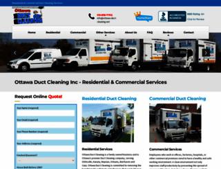 ottawa-duct-cleaning.net screenshot