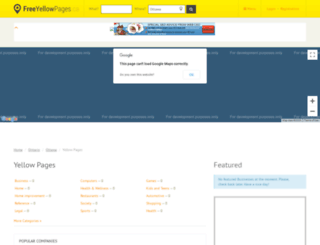 ottawa.freeyellowpages.ca screenshot
