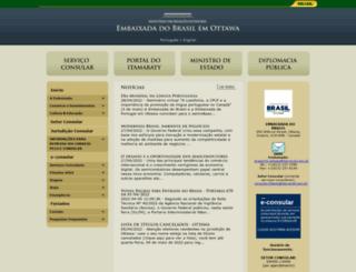 ottawa.itamaraty.gov.br screenshot