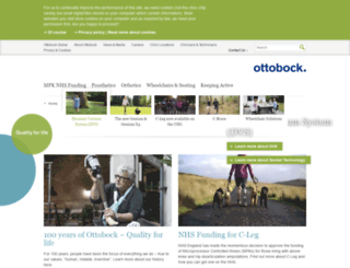 ottobock.co.uk screenshot