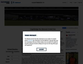 oughtibridge.play-cricket.com screenshot