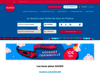 ouigo.com screenshot