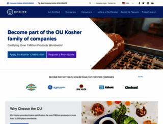 oukosher.org screenshot