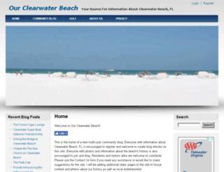 ourclearwaterbeach.com screenshot