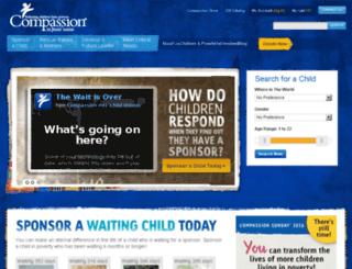 ourcompassion.com screenshot