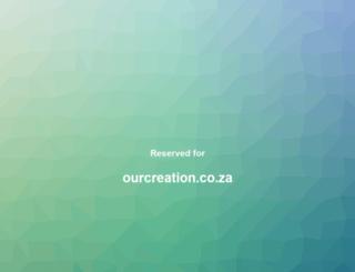 ourcreation.co.za screenshot