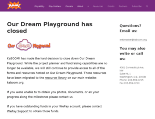 ourdreamplayground.kaboom.org screenshot