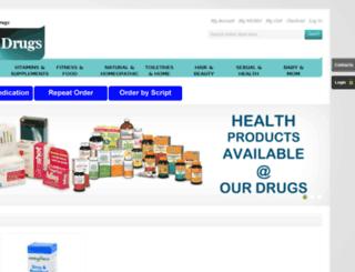 ourdrugs.co.za screenshot