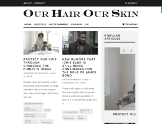 ourhairourskin.com screenshot