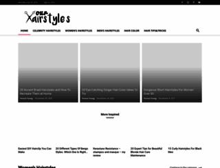 ourhairstyles.com screenshot