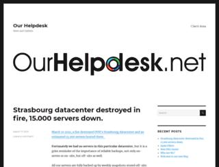 ourhelpdesk.net screenshot