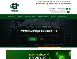 ouricuri.pe.gov.br screenshot