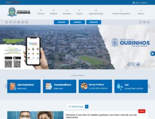 ourinhos.sp.gov.br screenshot