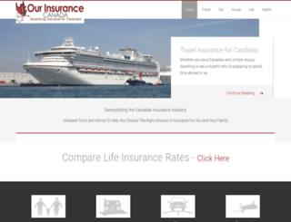 ourinsurancecanada.com screenshot