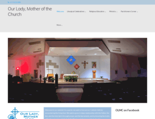 ourladymotherchurch.com screenshot