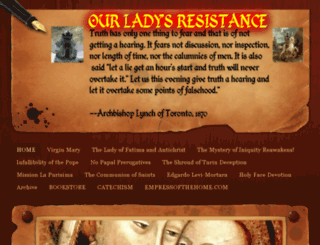 ourladysresistance.org screenshot