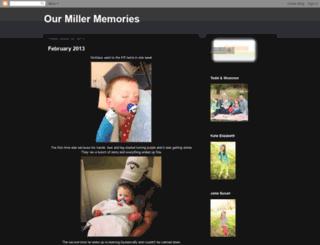 ourmillermemories.blogspot.com screenshot