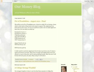 ourmoneyblog.blogspot.com screenshot