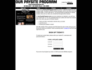 ourpaysiteprogram.com screenshot