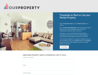ourproperty.co.za screenshot