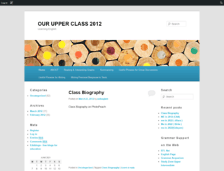 ourupperintclass.edublogs.org screenshot