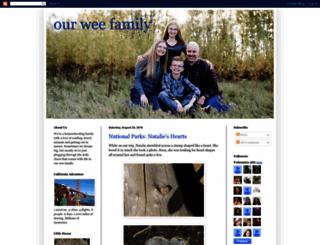 ourweefamily.blogspot.ca screenshot