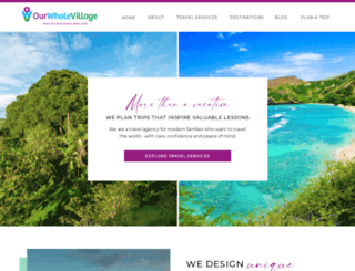 ourwholevillage.com screenshot