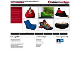 outdoorbeanbags.co.uk screenshot