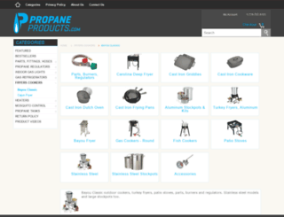 outdoorcookingequipmentstore.com screenshot