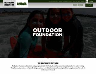 outdoorfoundation.org screenshot