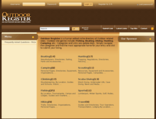 outdoorregister.com screenshot