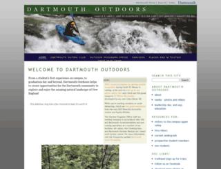 outdoors.dartmouth.edu screenshot