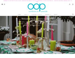 outdoorsonparade.com.au screenshot