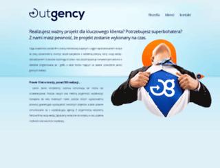 outgency.com screenshot