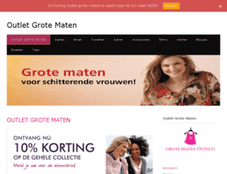 outlet-grote-maten.nl screenshot