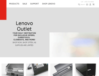 outlet.lenovo.com screenshot
