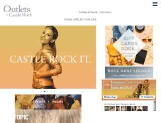 outletsatcastlerock.com screenshot
