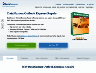 outlook-express-repair.com screenshot
