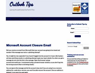 outlook-tips.net screenshot