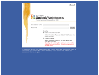 outlook.achilles.com screenshot