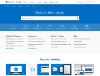 outlook.microsoft.com screenshot