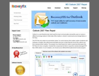 outlook2007repair.net screenshot