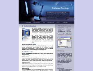 outlookbackup.com screenshot