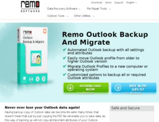 outlookbackup.remosoftware.com screenshot