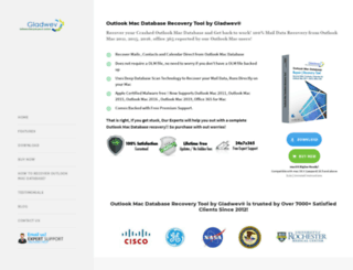outlookmacdatabaserecovery.com screenshot