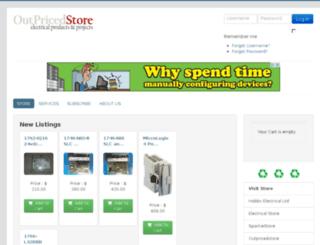 outpricedstore.com screenshot